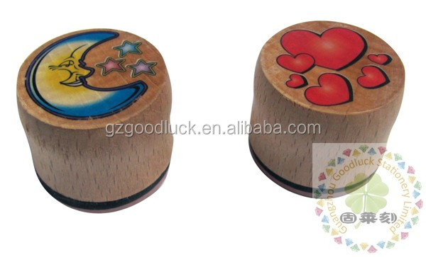 Children promotional christmas wooden toy stamp