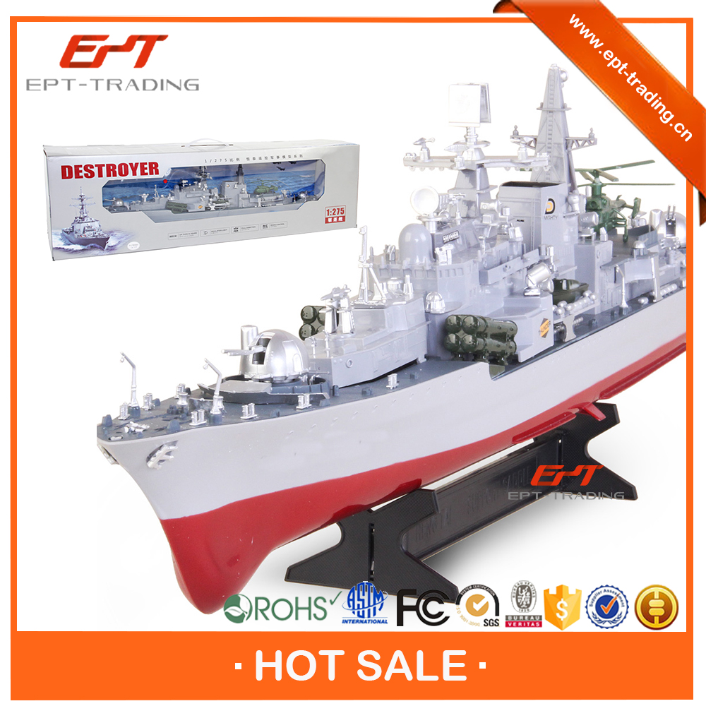 1 275 radio control destroyer model toys rc military boat for selling