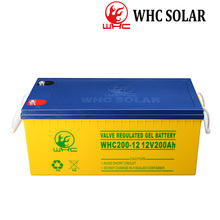 High Capacity WHC gel battery 200Ah 12v Voltage and Free Maintenance Type solar battery