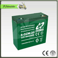 6-DZM-20 48 volt electric bicycle battery 12V20ah