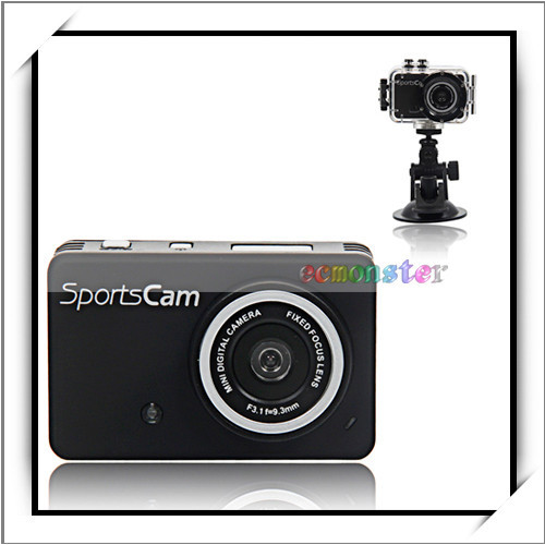 "GS130 2.0"" LCD 5.0MP 8x Digital Zoom Multi-functional Professional Digital Sports Action Camera Sale Black"
