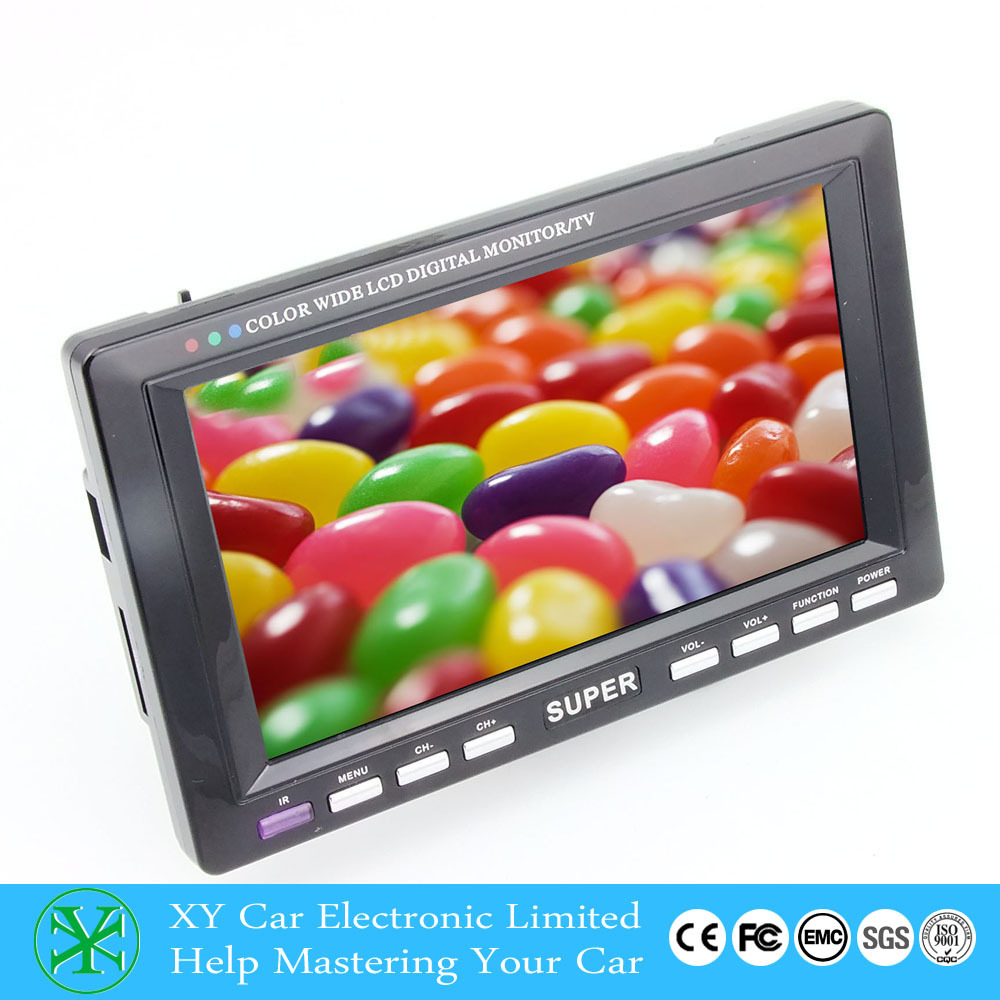 12v 4.3 inch led tv monitor car HD lcd monitor with TV XY-2072