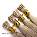 Wholesale virgin remy cuticle indian temple hair fusion prebonded stick I tip extension
