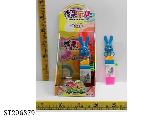 ELASTIC SCISSORS RABBIT CANDY TOY (12PCS/BOX) promotion candy plastic toys