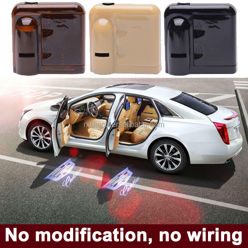 No Hole Drill Car LED Door Logo Projector Ghost Shadow Laser Light customizing car logo laser door light wireless