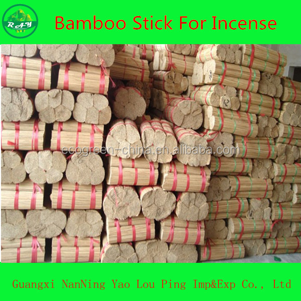 Standard Size Raw Bamboo Stick For Incense