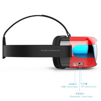 2016 New Arrival Powerfull 3D Virtual Reality Glasses Support 3D Movie/Games/Video All In One