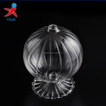 clear stripe borosilicate glass art for light decoration