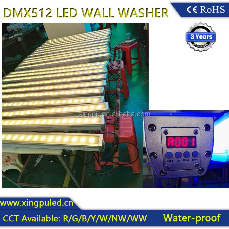 High quality outdoor rgb led wall washer can with dmx controller