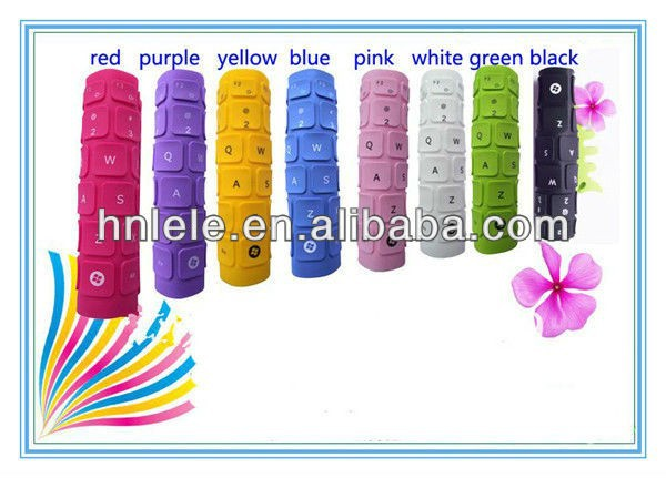 2013 new product fashion silicone keyboard cover dust cover