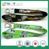 printed custom lanyard with bottle opener clip