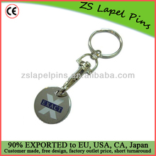 personalized trolley token/ token coin keyring/ trolley coins