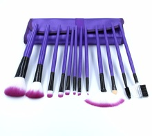 12 Pcs Professional Makeup brush Eye brush set custom Cosmetic brushes with PU bag