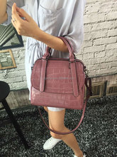 high quality vintage genuine leather bag handbag crocodile skin leather women shoulder bags fashion ladies handbags