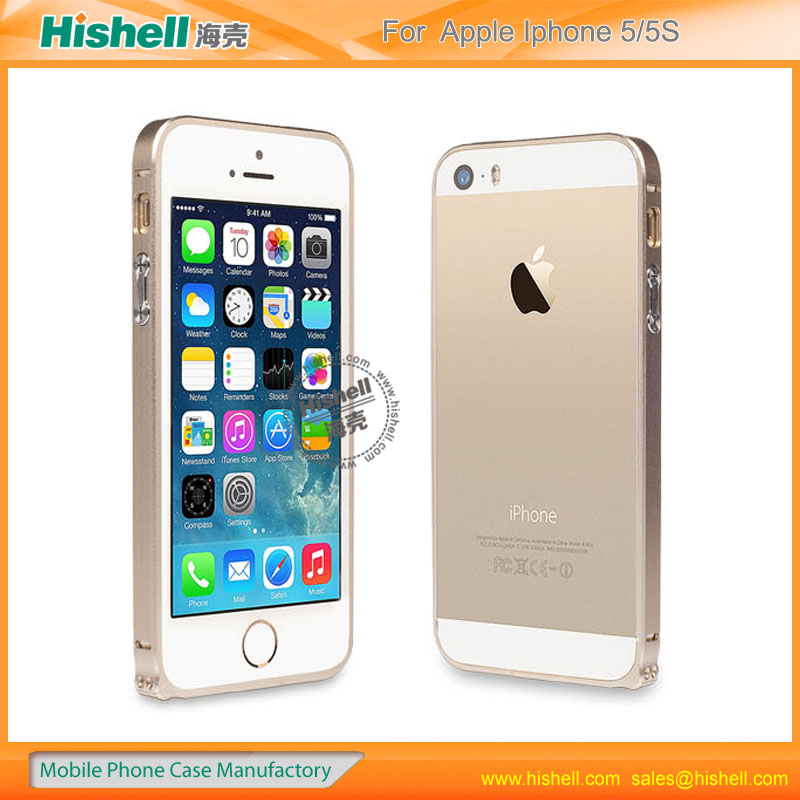 hot bumper frame with metal button case for iphone5/5s