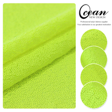 Ocean Textile Wholesale Catchy Bright Yellow Sequin Bag Fabric