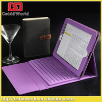 PU Leather Case for iPad Air for iPad 5 Wireless Bluetooth Keyboard Purple Cover Detachable Stand Case