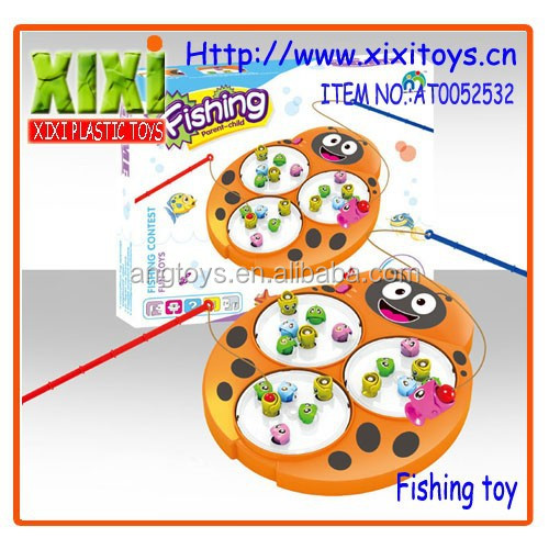 25.5Cm wholesale battery operated fishing game kids plastic toy fishing rods