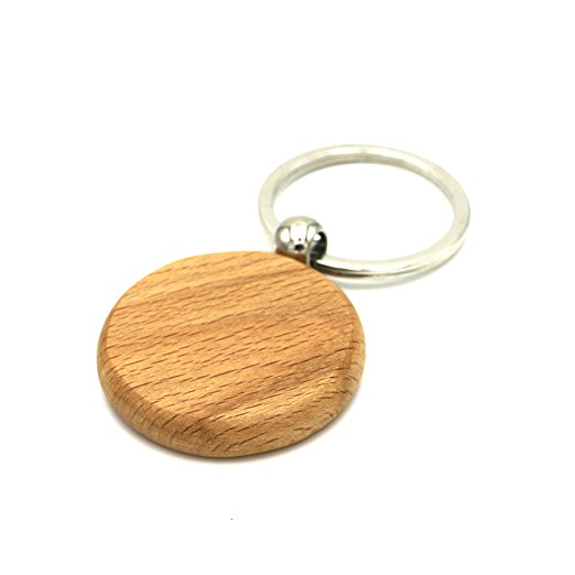 Factory Direct Sale Name Tag Key Chain Cable Keychain Keyring Made of Natural Wood
