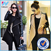 Yihao LQ women Korean Autumn winter Wool leather jacket Coat outwear trench parkas