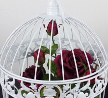 New design hot sale metal wire decorative bird cages for wedding