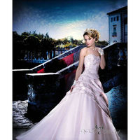 WK0179 Royal Cathedral Luxury Wedding Dress Wedding Gown