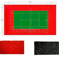 Outdoor Basketball And Volleyball Court Material FN-E-16021230