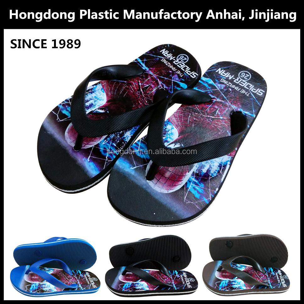 Boys best designer summer cartoon printing outdoor beach children flip flop for kids