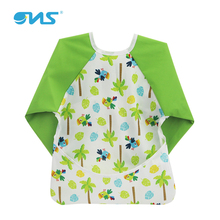 Long waterproof baby sleeved bib with sleeves