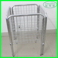 Metal Wire Cage Bin Storage Container
