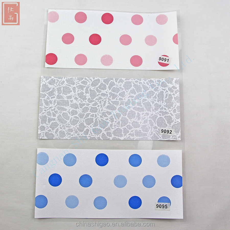 SG W123 2017 Round spot Waterproof PVC 3D DIY wall paper /Chinese wallpaper suppliers company