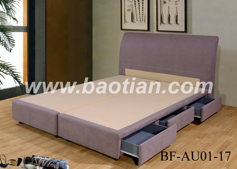 Baotian Furniture modern furniture lift up storage pu leather bed frame