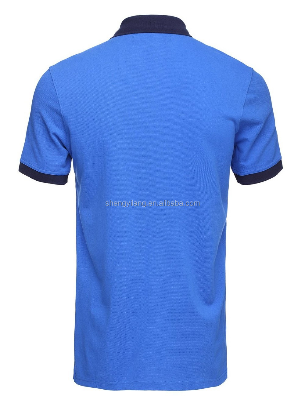 cheap mens royalblue 100 cotton pique 180g dri fit hidden placket polo shirts LT58789