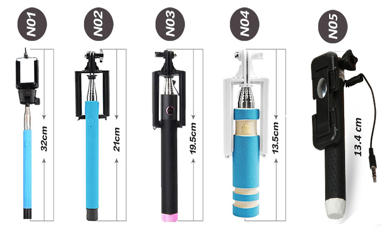 wholesale compact cable take pole monopod selfie stick support all smartphones buy cable. Black Bedroom Furniture Sets. Home Design Ideas