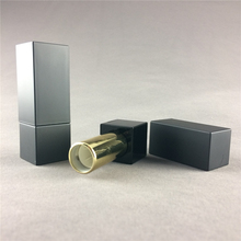 NEW Empty cosmetic matte square magnet lipstick tube