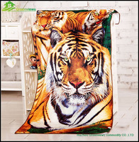 tiger wild animal nice quality microfiber printed beach towel ,miceofiber towels beach towels logo GVBT81215