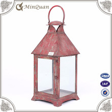 new design table top lantern , metal tall candle lantern