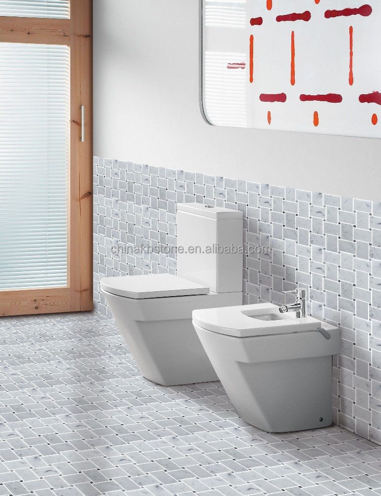 Carrara wit marmeren moza ek badkamer muur en vloer tegel keuken backsplash moza eken product - Badkamer muur tegel ...