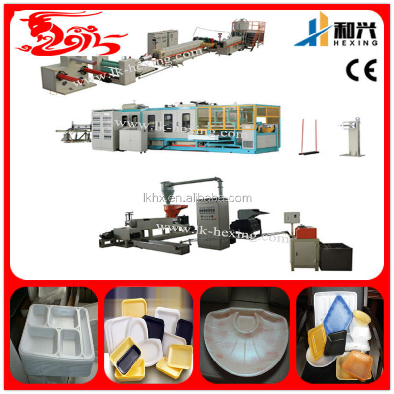 Disposable PS styrofoam food containers production line