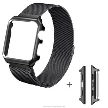 Milanese Loop Magnetic Metal Meh Watch Bands w/ Frame Stainless Steel Watch Strap 38mm 42mm for Apple Watch Bands