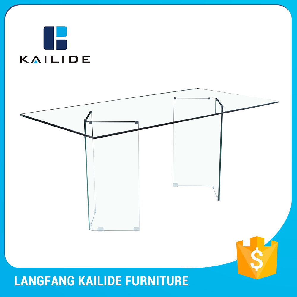 Practical Safe Stable High Glass Dinner Room Dining <strong>Table</strong>