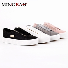 Design New Style Custom women lace-up pu casual shoes