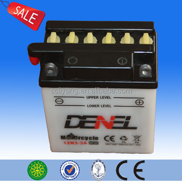dry battery for motorcycle,china motorcycle 12v 3ah dry charged battery for motorcycle with fast delievery time