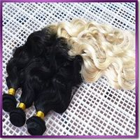 Color #1B/4/27 pure Brazilian unprocessed virgin remy human hair length 24inch weight 100g Omber hair