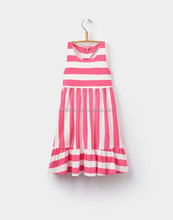 Stylish Dress Pink Strip Sleeveless Frock For 6 Years Old Baby Dress Cutting