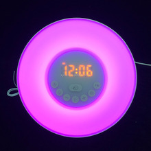 unique table clock sunrise nature sounds smart alarm clock in shenzhen