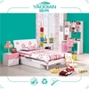 unique children bedroom set with bed writing table and wardrobe YD-801