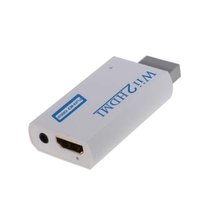 <strong>Wii</strong> to HDMI adapter converter scaler box with 3.5mm stereo jack audio out for 480p, Works with DVI monitor