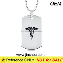 Wholesale Metal Doctors Symbols Snake Medical Alert Dog Tag