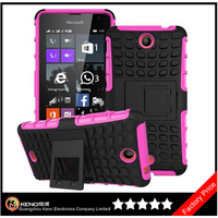 Keno Hot Selling PC + Black Silicon Football Cover Phone Case For Nokia Microsoft Lumia 430 435